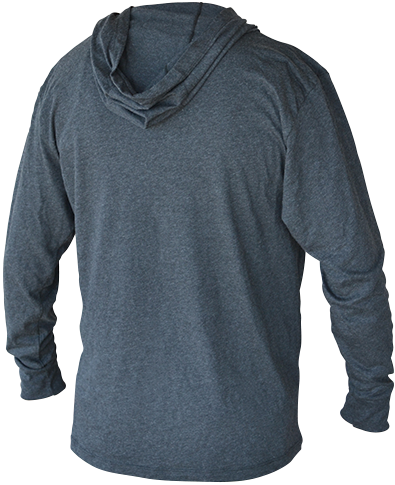 RAW Lightweight Hoodie Dark Grey Back