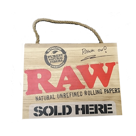 Autographed RAW Sold Here Sign