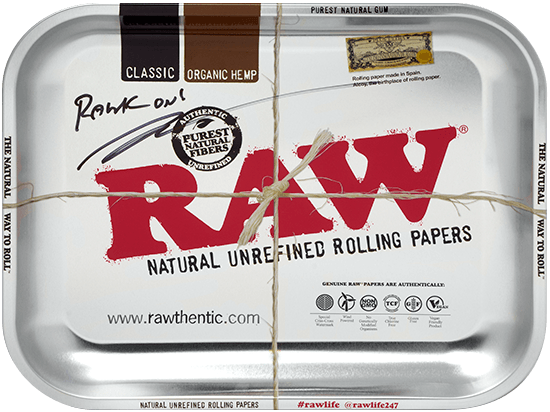 Autographed RAW Metallic Rolling Tray