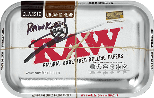 Autographed RAW Metallic Rolling Tray - Small
