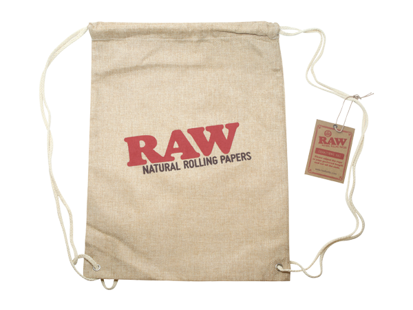Raw Drawstring Bag Tan-2
