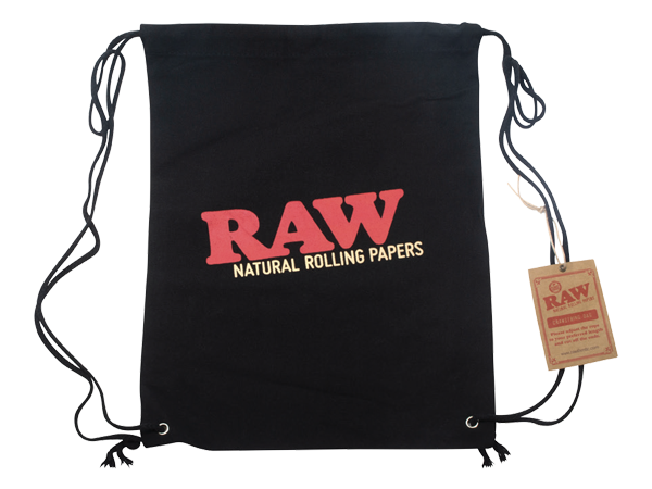 RAW-Drawstring-Black-Front